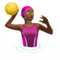 Woman Playing Water Polo: Medium-Dark Skin Tone on Apple iOS 11.3