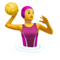 Woman Playing Water Polo on Apple iOS 11.3