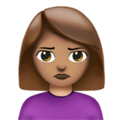 Woman Pouting: Medium Skin Tone on Apple iOS 11.3