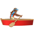 Woman Rowing Boat: Medium Skin Tone on Apple iOS 11.3
