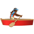 Woman Rowing Boat: Medium-Dark Skin Tone on Apple iOS 11.3