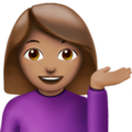 Woman Tipping Hand: Medium Skin Tone on Apple iOS 11.3