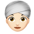 Woman Wearing Turban: Light Skin Tone on Apple iOS 11.3