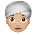 Woman Wearing Turban: Medium-Light Skin Tone on Apple iOS 11.3