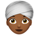 Woman Wearing Turban: Medium-Dark Skin Tone on Apple iOS 11.3