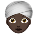 Woman Wearing Turban: Dark Skin Tone on Apple iOS 11.3