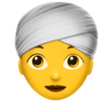 Woman Wearing Turban on Apple iOS 11.3