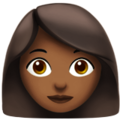 Woman: Medium-Dark Skin Tone on Apple iOS 11.3