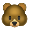 Bear Face on Apple iOS 10.3