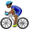 Person Biking: Medium-Dark Skin Tone on Apple iOS 10.3