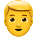 Blond-Haired Man on Apple iOS 10.3
