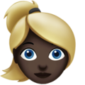 Blond-Haired Woman: Dark Skin Tone on Apple iOS 10.3