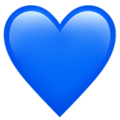 Blue Heart on Apple iOS 10.3