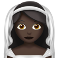 Bride With Veil: Dark Skin Tone on Apple iOS 10.3