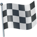 Chequered Flag on Apple iOS 10.3