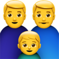 Family: Man, Man, Boy on Apple iOS 10.3