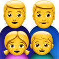 Family: Man, Man, Girl, Boy on Apple iOS 10.3