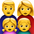 Family: Man, Woman, Girl, Boy on Apple iOS 10.3
