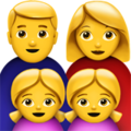 Family: Man, Woman, Girl, Girl on Apple iOS 10.3