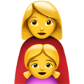 Family: Woman, Girl on Apple iOS 10.3