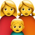 Family: Woman, Woman, Boy on Apple iOS 10.3