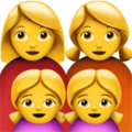 Family: Woman, Woman, Girl, Girl on Apple iOS 10.3