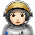Woman Astronaut: Light Skin Tone on Apple iOS 10.3