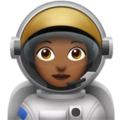 Woman Astronaut: Medium-Dark Skin Tone on Apple iOS 10.3