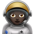 Woman Astronaut: Dark Skin Tone on Apple iOS 10.3