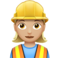 Woman Construction Worker: Medium-Light Skin Tone on Apple iOS 10.3