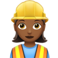 Woman Construction Worker: Medium-Dark Skin Tone on Apple iOS 10.3