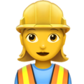 Woman Construction Worker on Apple iOS 10.3