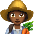 Woman Farmer: Medium-Dark Skin Tone on Apple iOS 10.3