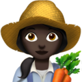 Woman Farmer: Dark Skin Tone on Apple iOS 10.3
