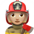 Woman Firefighter: Medium-Light Skin Tone on Apple iOS 10.3