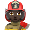 Woman Firefighter: Dark Skin Tone on Apple iOS 10.3