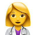 Woman Health Worker on Apple iOS 10.3