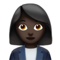 Woman Office Worker: Dark Skin Tone on Apple iOS 10.3