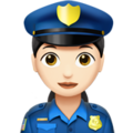 Woman Police Officer: Light Skin Tone on Apple iOS 10.3