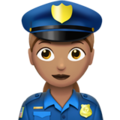 Woman Police Officer: Medium Skin Tone on Apple iOS 10.3