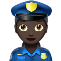 Woman Police Officer: Dark Skin Tone on Apple iOS 10.3