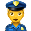 Woman Police Officer on Apple iOS 10.3