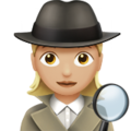 Woman Detective: Medium-Light Skin Tone on Apple iOS 10.3