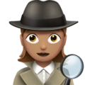 Woman Detective: Medium Skin Tone on Apple iOS 10.3