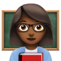 Woman Teacher: Medium-Dark Skin Tone on Apple iOS 10.3