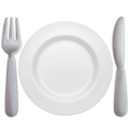 Fork and Knife With Plate on Apple iOS 10.3
