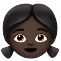 Girl: Dark Skin Tone on Apple iOS 10.3