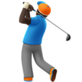 Person Golfing: Dark Skin Tone on Apple iOS 10.3