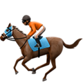 Horse Racing: Medium-Dark Skin Tone on Apple iOS 10.3