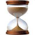 Hourglass With Flowing Sand on Apple iOS 10.3